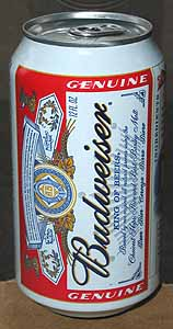 Picture of Budweiser Beer - Front