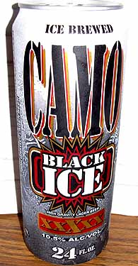 Picture of Camo Black Ice High Gravity Lager Beer