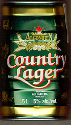 Front of Country Lager