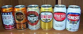 Picture of Genesee Historical Beer Cans