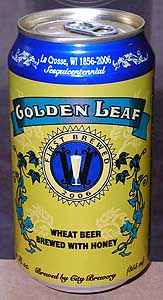 Picture of Golden Leaf Wheat Beer - Front
