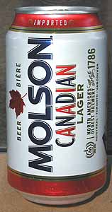 Picture of Molson Beer - Back