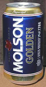 Picture of Molson Golden - Back