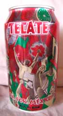 Picture of Tecate Beer - back